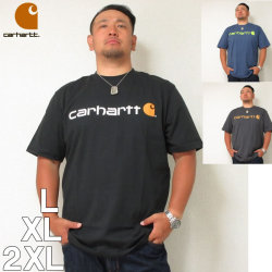 (本州四国九州送料無料)Carhartt (カーハート) 胸ロゴ コットン 半袖  Tシャツ L XL 2XL カーハート