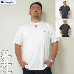 (8/31まで特別送料)Champion(チャンピオン)C-VAPOR無地半袖Tシャツ チャンピオン ドライ Tシャツ 白 黒 紺 3L 4L 5L