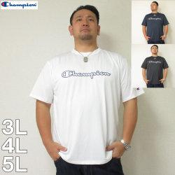 (5/31まで特別送料)Champion(チャンピオン)C-VAPOR横ロゴ半袖Tシャツ チャンピオン ドライ Tシャツ 白 黒 紺 3L 4L 5L