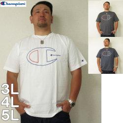 (5/31まで特別送料)Champion(チャンピオン)C-VAPOR-PP カラーデカロゴ 半袖Tシャツ3L 4L 5L チャンピオン ドライ Tシャツ