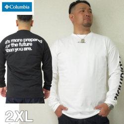 大きいサイズ メンズ  Columbia(コロンビア)ビッグイエローメドー 長袖 Tシャツ 2XL