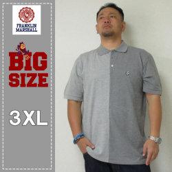(本州送料無料)FRANKLIN&MARSHALL(フランクリンアンドマーシャル)2トーン半袖ポロシャツ<ライトグレイメランジ><3XL >