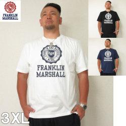 (6/30まで特別送料)FRANKLIN&MARSHALL (フランクリンアンドマーシャル) エンブレム 半袖  Tシャツ 3XL