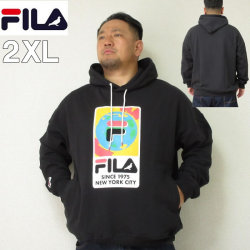 (本州四国九州送料無料)大きいサイズ メンズ STAPLE(ステイプル)FILA×STAPLE HOOD ERTH デカロゴ フィラ 2XL パーカー