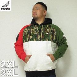 (本州四国九州送料無料) 大きいサイズ メンズ STAPLE(ステイプル)OUTDOOR CAMO HOODIE 2XL/3XL/3L/4L パーカー ステイプル