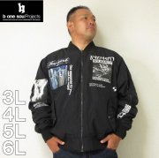 b-one-soul-フォトコラージュMA-1ジャケット(メーカー取寄)3L 4L 5L 6L ビーワンソウル