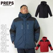 (2/3まで特別送料)PREPS-マウンテン中綿ジャケット(メーカー取寄)3L 4L 5L 6L 8L ジャンパー 中綿
