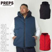 (2/3まで特別送料)PREPS-中綿ベスト(メーカー取寄)3L 4L 5L 6L 8L 中綿 ベスト