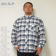 Mc.S.P-チェック長袖B.Dネルシャツ(メーカー取寄)
