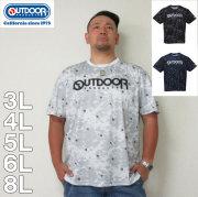 OUTDOOR PRODUCTS-DRYメッシュ総柄半袖Tシャツ(メーカー取寄)ドライ 3L 4L 5L 6L 8L アウトドア Tシャツ