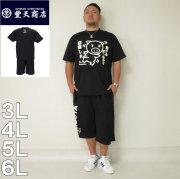 (4/30迄送料値下げ中)豊天-動けるぽっちゃり半袖Tシャツ+ハーフパンツ(メーカー取寄)豊天 ぶうでん ブーデン 3L 4L 5L 6L Tシャツ 上下