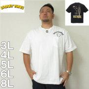 LOONEY TUNES-チェーン刺繍&プリント半袖Tシャツ(メーカー取寄)3L 4L 5L 6L 8L Tシャツ ロードランナー