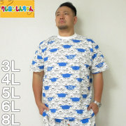 クレヨンしんちゃん-総柄プリント半袖Tシャツ(メーカー取寄)3L 4L 5L 6L 8L しんちゃん くれしん Tシャツ