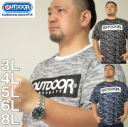 大きいサイズ メンズ OUTDOOR PRODUCTS-DRYメッシュカモフラ柄半袖Tシャツ(メーカー取寄)アウトドア プロダクツ 3L 4L 5L 6L 8L