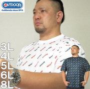 大きいサイズ メンズ OUTDOOR PRODUCTS-DRYメッシュロゴプリント半袖Tシャツ(メーカー取寄)アウトドア プロダクツ 3L 4L 5L 6L 8L