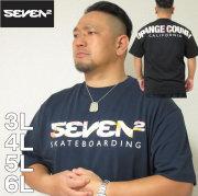 大きいサイズ メンズ SEVEN2- 半袖 Tシャツ(メーカー取寄)(セブンツー)3L/4L/5L/6L サーフ