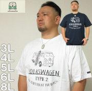 大きいサイズ メンズ VOLKSWAGEN- 半袖 Tシャツ(メーカー取寄)(フォルクスワーゲン)  3L/4L/5L/6L/8L