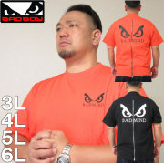 大きいサイズ メンズ BAD BOY-バックZIPロゴプリント半袖Tシャツ(メーカー取寄)バッドボーイ/3L/4L/5L/6L