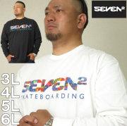 大きいサイズ メンズ SEVEN2-長袖 Tシャツ(メーカー取寄)セブンツー 3L 4L 5L 6L