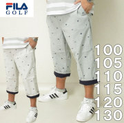 大きいサイズ メンズ ゴルフ FILA GOLF-飛び柄刺しゅう クロップドパンツ(メーカー取寄)フィラゴルフ 100 105 110 115 120 130