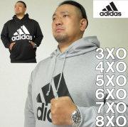 大きいサイズ メンズ adidas-スウェットプル パーカー(メーカー取寄)アディダス 2L 3L 4L 5L 6L 7L