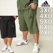 大きいサイズ メンズ adidas-ウォームアップ ハーフパンツ(メーカー取寄)アディダス 2L 3L 4L 5L 6L