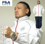 大きいサイズ メンズ FILA GOLF-レインウェアセット(メーカー取寄) レインウェア ゴルフウェア フィラゴルフ 3L 4L 5L 6L