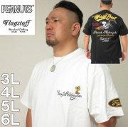 大きいサイズ メンズ FLAGSTAFF×PEANUTS- スヌーピー コラボ 半袖 Tシャツ(メーカー取寄)(フラッグスタッフ) 3L/4L/5L/6L/