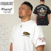 大きいサイズ メンズ FLAGSTAFF×PEANUTS- スヌーピー コラボ 半袖 Tシャツ(メーカー取寄)(フラッグスタッフ)3L/4L/5L/6L/8L