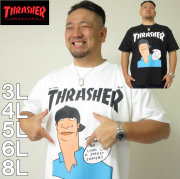 大きいサイズ メンズ THRASHER-半袖Tシャツ(メーカー取寄)(スラッシャー) 3L/4L/5L/6L/8L