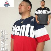 大きいサイズ メンズ PLENTY TOUGH SPORT-切替 半袖 Tシャツ(メーカー取寄)プレンティタフスポーツ 3L/4L/5L/6L
