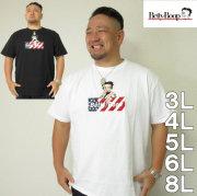 大きいサイズ メンズ BETTYBOOP-刺しゅう半袖Tシャツ(メーカー取寄)3L/4L/5L/6L/8L ベティーちゃん