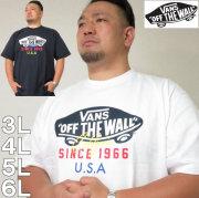 大きいサイズ メンズ VANS-OTW USA半袖Tシャツ(メーカー取寄)バンズ/3L/4L/5L/6L