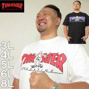 大きいサイズ メンズ THRASHER-半袖Tシャツ(メーカー取寄)スラッシャー/3L/4L/5L/6L/8L