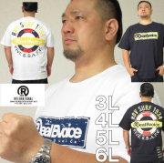 大きいサイズ メンズ RealBvoice-SURF1934半袖Tシャツ(メーカー取寄)リアルビーボイス 3L 4L 5L 6L