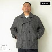 ALASKO(アラスコ)メルトンウール Pコート ショート丈(ヘリンボーン)