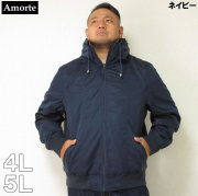 Amorte(アモルテ)ポリエステルサテン ボリュームネックジャケット(ネイビー)