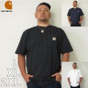(6/30まで特別送料)Carhartt (カーハート) 半袖 ポケット Tシャツ 白 黒  L XL 2XL