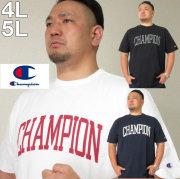 大きいサイズ メンズ Champion(チャンピオン)カレッジロゴ 半袖Tシャツ コットン/4L/5L