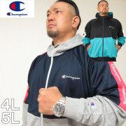 大きいサイズ メンズ Champion(チャンピオン)ラインプリント パーカー ジャージ 4L 5L