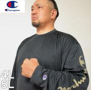 大きいサイズ メンズ Champion(チャンピオン)長袖 ドライ Tシャツ C VAPOR 4L 5L