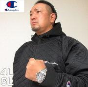 大きいサイズ メンズ Champion(チャンピオン)キルティング ジップパーカー 4L 5L