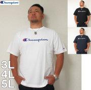 (7/31まで特別送料)Champion(チャンピオン)スクリプトロゴ コットン 半袖 Tシャツ 3L 4L 5L チャンピオン