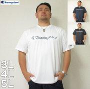 (4/30迄送料値下げ中)Champion(チャンピオン)C-VAPOR横ロゴ半袖Tシャツ チャンピオン ドライ Tシャツ 白 黒 紺 3L 4L 5L