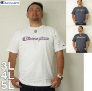 (5/31まで特別送料)Champion(チャンピオン)C-VAPOR-PP カラー横ロゴ 半袖Tシャツ 3L 4L 5L チャンピオン ドライ Tシャツ