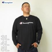 Champion(チャンピオン)長袖 Tシャツ 横ロゴ 3L 4L 5L ロンTEE