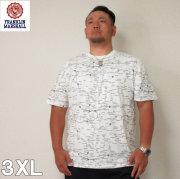 FRANKLIN&MARSHALL(フランクリンアンドマーシャル)マップ デザイン 半袖 コットン Tシャツ 3XL フランクリン