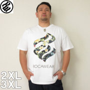 (4/30迄送料値下げ中)ROCAWEAR(ロカウェア)TROPICAL FLAME-半袖Tシャツ  ロカウェア 半袖 Tシャツ 2XL 3XL 黒 白