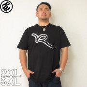 (4/30迄送料値下げ中)ROCAWEAR(ロカウェア)BRUSHED R LOGO-半袖Tシャツ  ロカウェア 半袖 Tシャツ 2XL 3XL 黒 白
