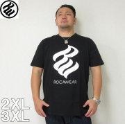 (4/30迄送料値下げ中)ROCAWEAR(ロカウェア)FLAME半袖Tシャツ  ロカウェア 半袖 Tシャツ 2XL 3XL 黒 白